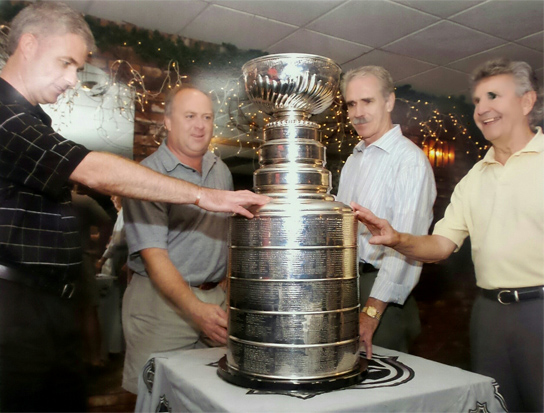 Stanley cup with harrold
